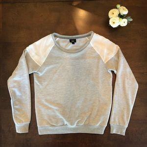 EUC Mossimo Grey Sweatshirt w/ White Sheer Detail
